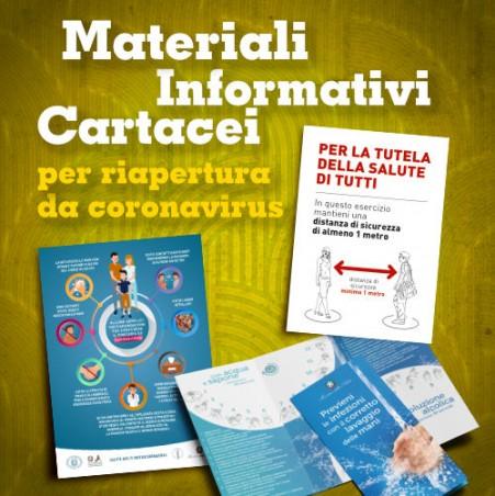 Materiali Informativi Cartacei - Locandine e depliant per riapertura da Coronavirus
