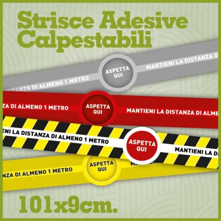 Strisce adesive calpestabili per distanziamento